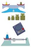 Escalas da química ilustração do vetor
