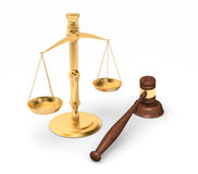 Escalas de justiça Fotografia de Stock Royalty Free