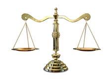 Escalas de justiça Imagem de Stock