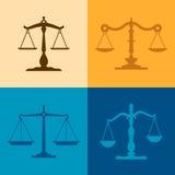 Escalas de justiça ilustração royalty free