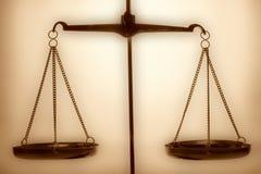 Escalas de justiça Fotos de Stock