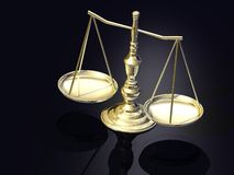Escalas de Justitia Imágenes de archivo libres de regalías
