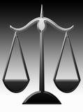 Escalas de la justicia stock de ilustración