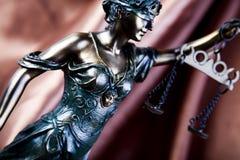 Escalas de la justicia Foto de archivo