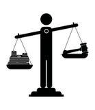Escalas de la justicia Imágenes de archivo libres de regalías
