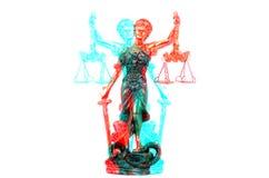Escalas de la justicia, Justitia, señora Justice en el blanco aislado imagen de archivo libre de regalías