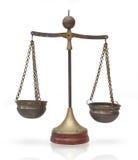 Escalas de la ley, pesos de balanza: Símbolo de la justicia Imagen de archivo
