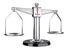 Escalas de la plata de la justicia o escalas médicas Imagen de archivo libre de regalías