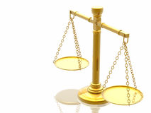 Escalas de las justicias ilustración del vector