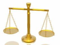 Escalas de las justicias Imagen de archivo libre de regalías