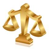 Escalas de oro de la justicia libre illustration