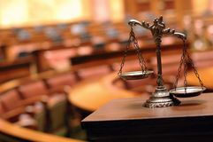 Escalas decorativas de justiça Fotografia de Stock Royalty Free
