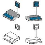 Escalas del anuncio publicitario (3d) Ilustración del Vector