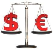 Escalas del dinero ilustración del vector