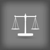Escalas do ícone de justiça Foto de Stock