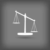 Escalas do ícone de justiça Imagens de Stock