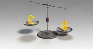 Escalas do dinheiro Foto de Stock
