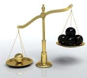 Escalas douradas ilustração do vetor