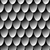 Escalas grises del dragón del correo en cadena del modelo inconsútil Fondo simple para el diseño foto de archivo