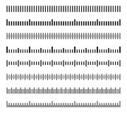 Escalas horizontales de la distancia de la medida, sistema de medición del vector de los indicadores del tamaño de la calibración stock de ilustración