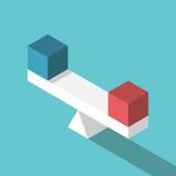 Escalas isométricas com cubos Imagem de Stock