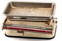Escalas mecánicas antiguas Imágenes de archivo libres de regalías