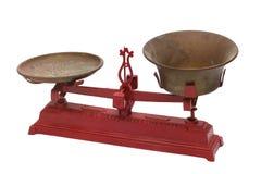 Escalas mecánicas antiguas del hierro Imagen de archivo libre de regalías