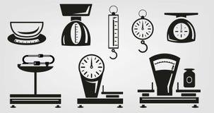 Escalas mecánicas de la cocina Imagen de archivo libre de regalías