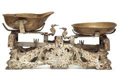 Escalas oxidadas viejas de la cacerola Fotografía de archivo
