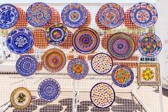 Escalas pintadas coloridas de suspensão da argila Foto de Stock