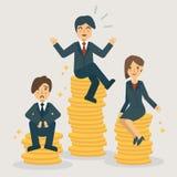 Escalas salariales y grados de la posición stock de ilustración