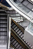 Escalator. It is a close up with escalator in a building Royalty Free Stock Image