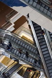 Escalator. It is a close up with escalator in a building Stock Photography