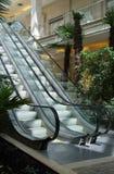 Escalator. The escalator in foyer of the big shop Stock Photos