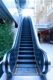 Escalator. Low angle view looking to top of modern escalator Royalty Free Stock Photo
