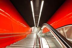 The escalator. Stock Photos