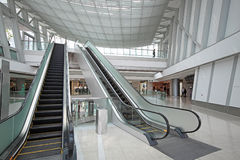 Escalator. In the shopping mall Royalty Free Stock Photo