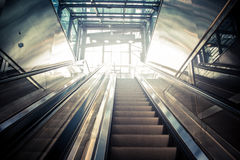 Escalator. In the subway station Stock Images