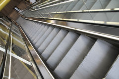 Escalator. Photo of a modern escalator Royalty Free Stock Image