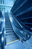 Escalator. The commercial streets automatic escalator Royalty Free Stock Images