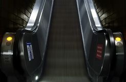 Escalator. Detail-picture of the vienna underground royalty free stock photography