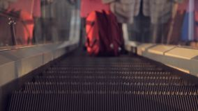 The escalator at the airport.  stock video