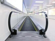 Escalator in airport. Close up to escalator in airport Royalty Free Stock Images