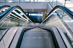 Escalator in an airport Royalty Free Stock Photography