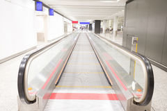 Escalator in airport. Escalator interior of the hong kong airport Royalty Free Stock Photography