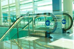 Escalator in airport Royalty Free Stock Images