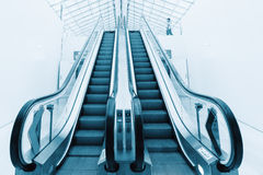 Escalator at the airport PARIS Charles de Gaulle Royalty Free Stock Photography