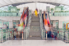 Escalator Airport Passenger Traffic Stock Image