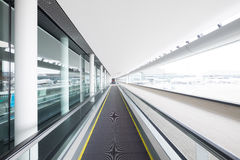 Escalator in airport terminal. Shot in japan and asia Stock Photos