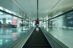 Escalator in the airport Royalty Free Stock Images